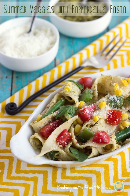 Summer Veggies with Pappardelle Pasta: 10 Delicious Recipes With Veggies for Eat Your Veggies Day {Eat Your Vegetables Day} from Cheap Is The New Classy