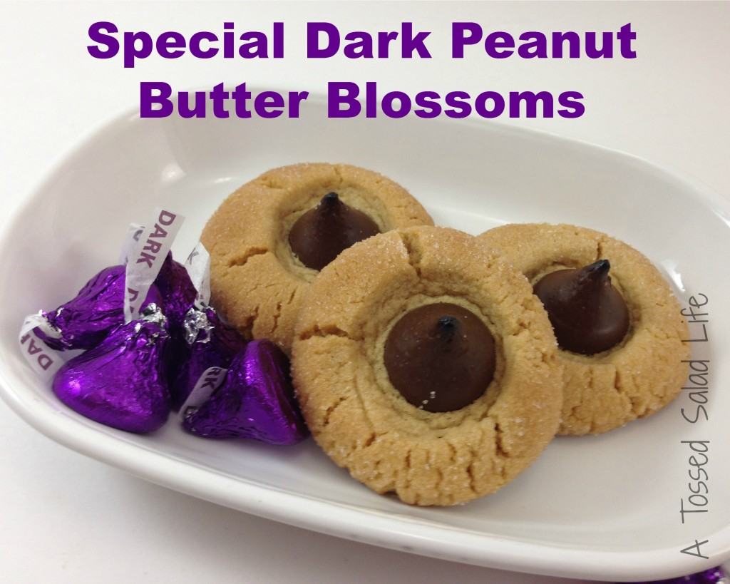 Special Dark Peanut Butter Blossoms: 14 Kiss Recipes, recipes with Hershey's Kisses, for World Kiss Day | Cheap Is The New Classy