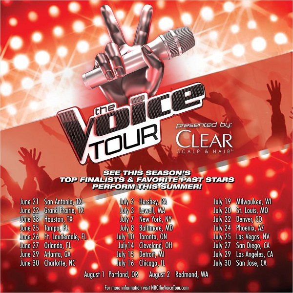 Win tickets to see The Voice Live On Tour in Charlotte, NC on June 30th #sponsored #VoiceTour