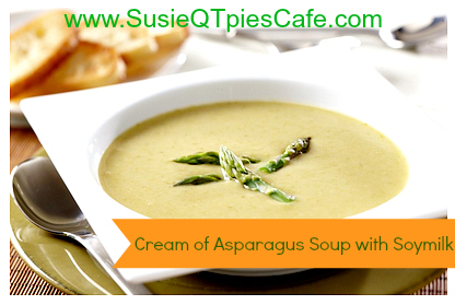 Cream of Asparagus Soup With Soymilk: 10 Delicious Recipes With Veggies for Eat Your Veggies Day {Eat Your Vegetables Day} from Cheap Is The New Classy