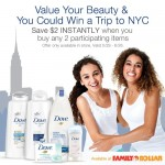Share a picture of yourself with an inspiring female family member on Twitter or Instagram and you could win a trip to New York from Dove and Family Dollar #FDBeautyIs #sponsored