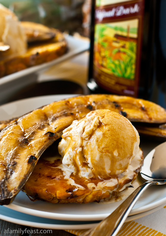 Grilled Bananas and Pineapple With Rum-Molasses Glaze: 12 Great Grilling Recipes To Whet Your Appetite This Summer | Cheap Is The New Classy