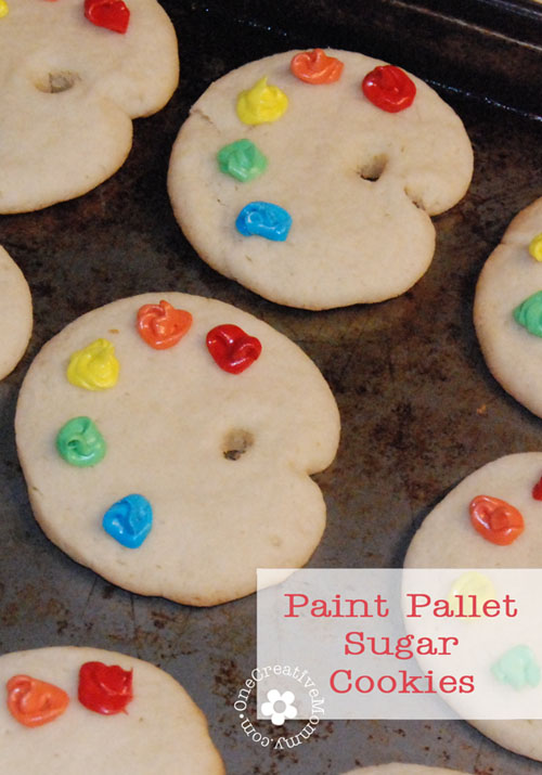 Paint Pallet Sugar Cookies: 10 Yummy Sugar Cookie Recipes to celebrate National Sugar Cookie Day on July 9th | Cheap Is The New Classy