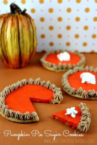 Pumpkin Pie Sugar Cookies: 10 Yummy Sugar Cookie Recipes to celebrate National Sugar Cookie Day on July 9th | Cheap Is The New Classy