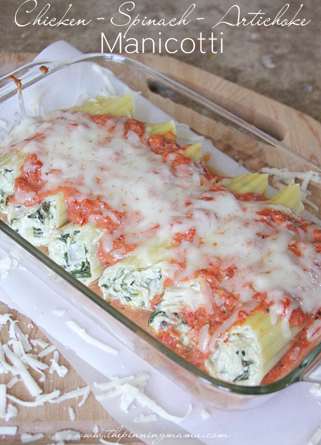 Chicken Spinach Artichoke Manicotti - Spinach Recipes: 10 Tasty Recipes Including Spinach