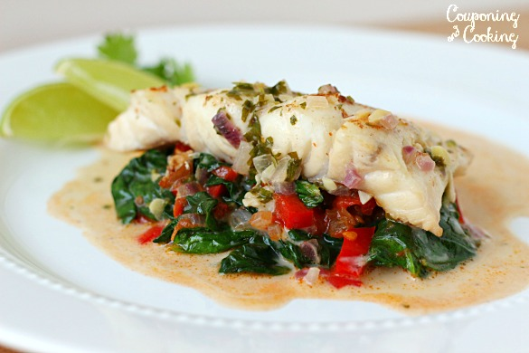 Florida Grouper Coconut Florentine - Spinach Recipes: 10 Tasty Recipes Including Spinach