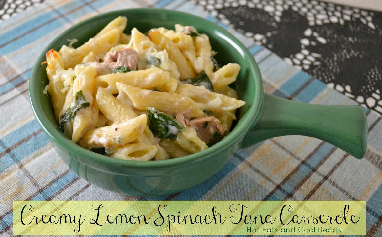 Creamy Lemon Spinach Tuna Casserole - Spinach Recipes: 10 Tasty Recipes Including Spinach