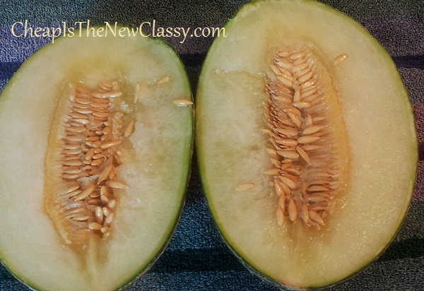 The Santa Claus Melon, also known as the Christmas Melon, is a melon similar in appearance and taste to either a cantaloupe or a honeydew.