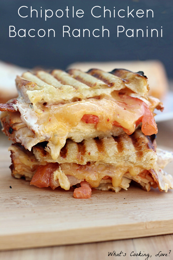 Chipotle Chicken Bacon Ranch Panini - Bacon Recipes: 10 Tasty Recipes With Bacon | Cheap Is The New Classy