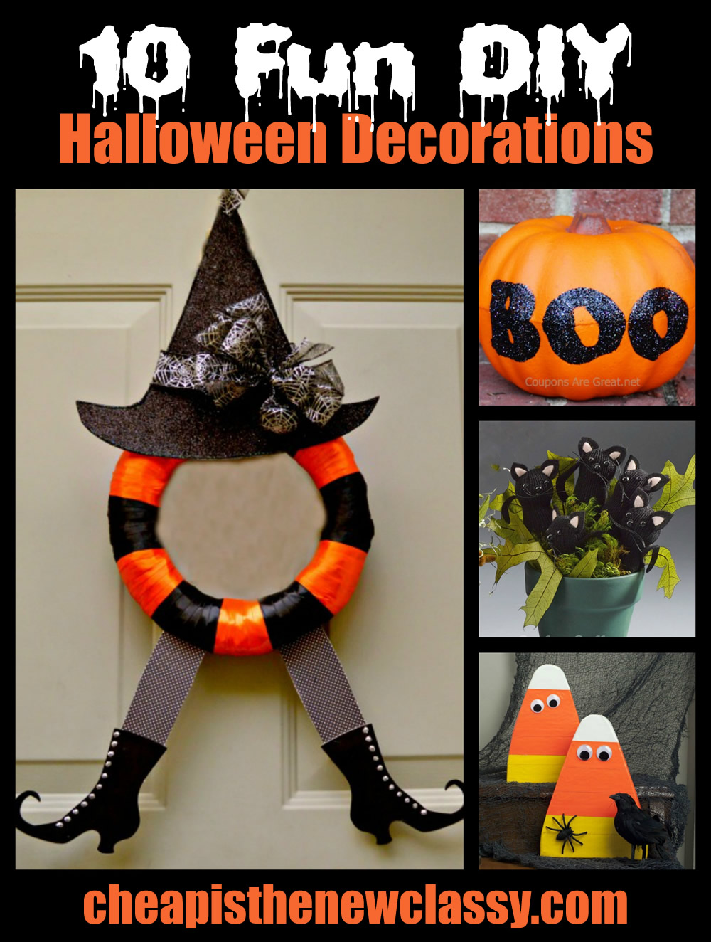 10 fun and spooky diy halloween decorations. Black Bedroom Furniture Sets. Home Design Ideas