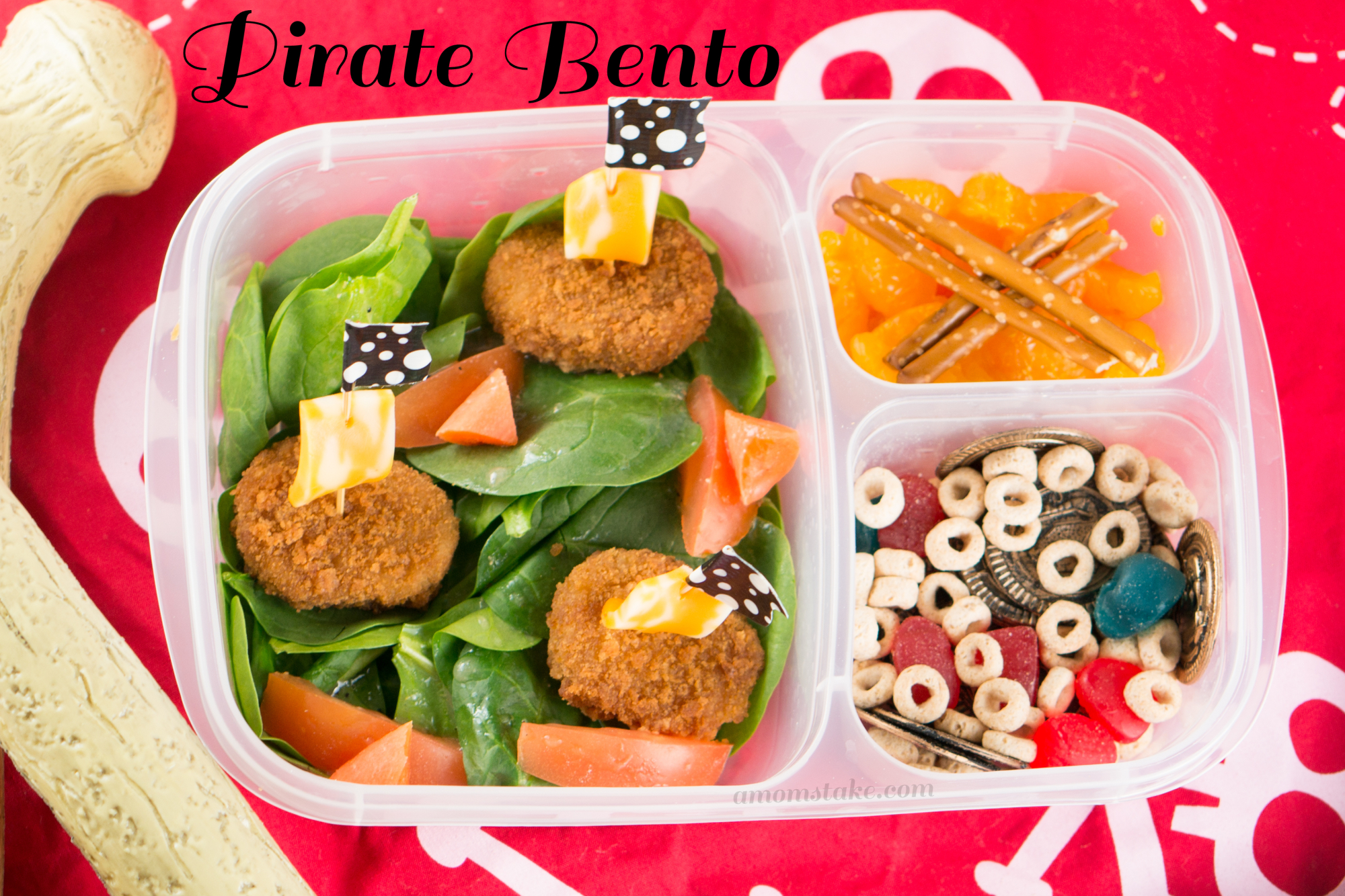 Meatless Lunch Pirate Bento Box: 10 School Lunchbox Ideas Your Kid Will Love | Cheap Is The New Classy