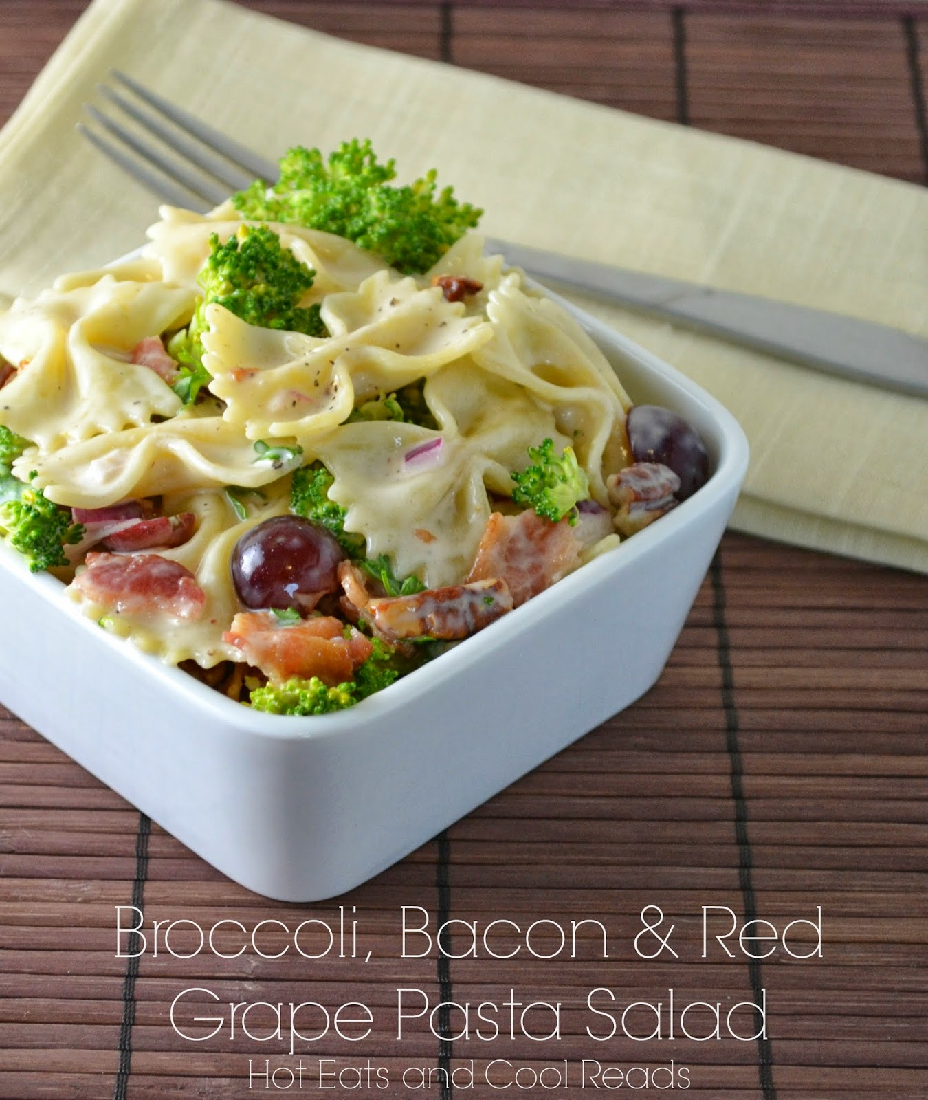 Broccoli, Bacon and Red Grape Pasta Salad - Bacon Recipes: 10 Tasty Recipes With Bacon | Cheap Is The New Classy