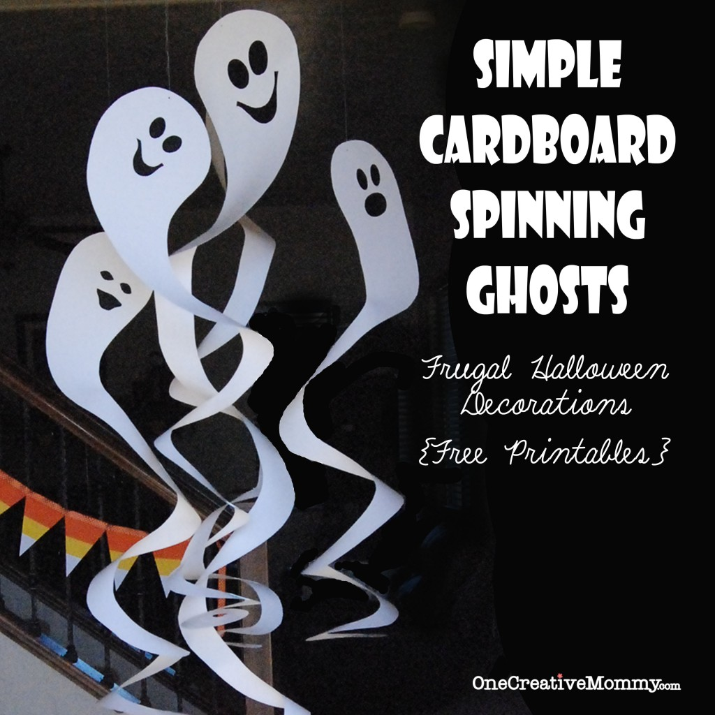 Simple Cardboard Spinning Ghosts: 10 Fun and Spooky DIY Halloween Decorations | Cheap Is The New Classy