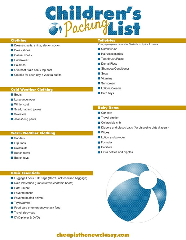 Free Printable Cruise Packing List | Cheap Is The New Classy