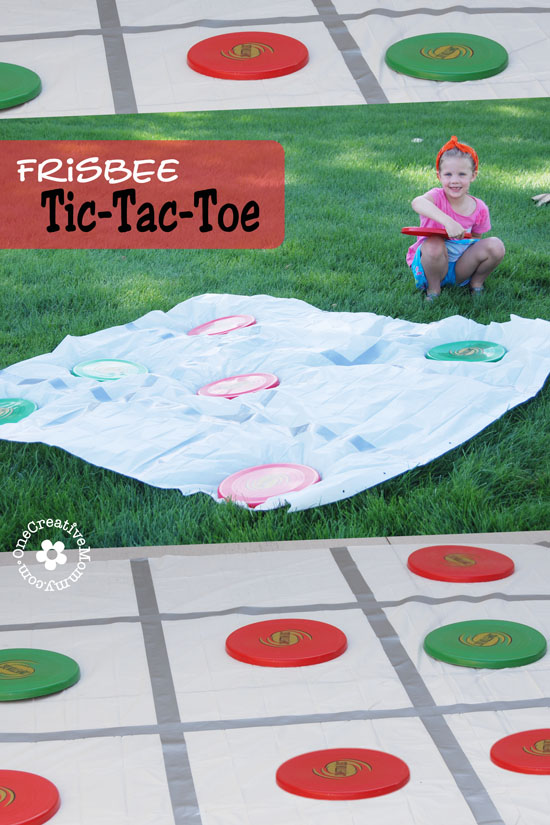 Frisbee Tic-Tac-Toe: 10 Family Fun Activities | Cheap Is The New Classy