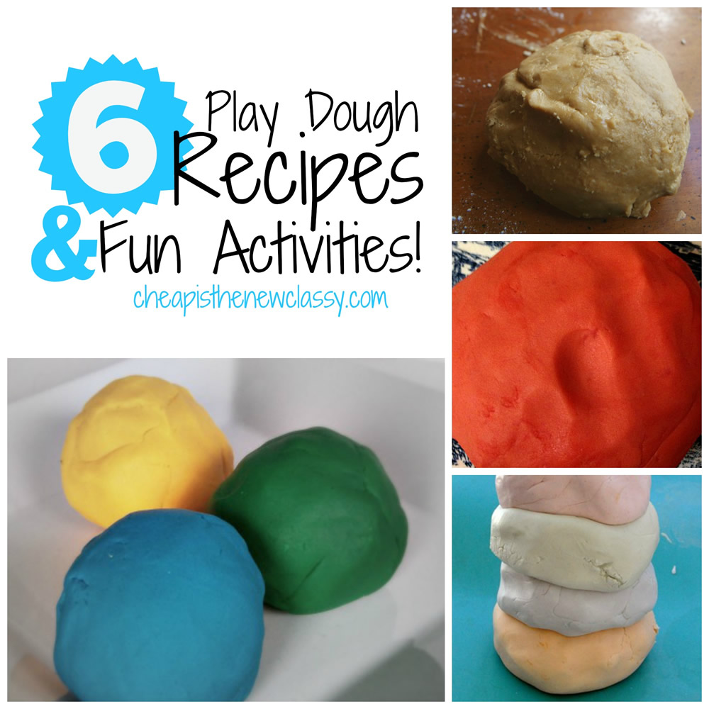 6 Easy Play Dough Recipes For National Play-Doh Day | Cheap Is The New Classy