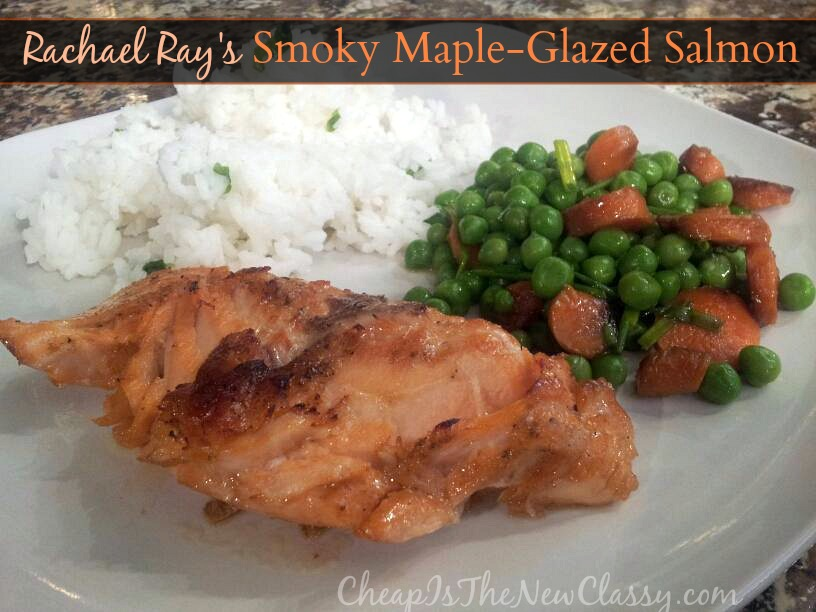 Dinner for two: Smoky Maple-Glazed Salmon for you, Rachael Ray Nutrish for your cat #sponsored #MC #NutrishForCats