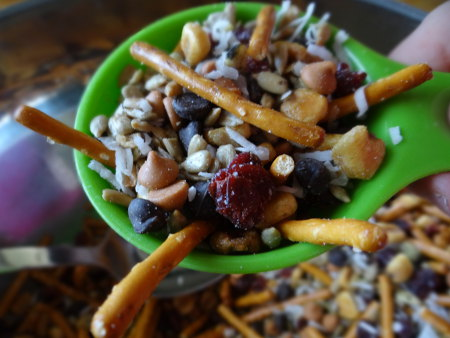Scooping Trail Mix: 10 Fun Trail Mix Recipe Ideas For National Trail Mix Day | Cheap Is The New Classy