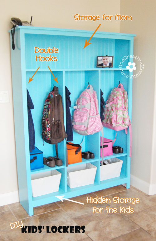 Storage Lockers For Kids: 10 Home Organization Ideas For A Clutter Free Life | Cheap Is The New Classy