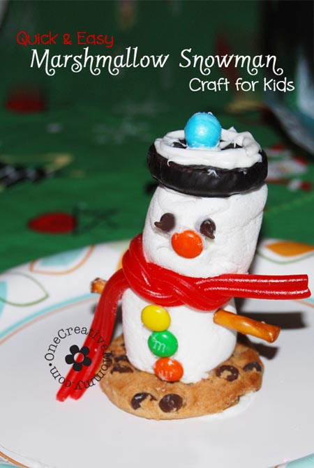 Marshmallow Snowman Craft For Kids: 10 Fun Ways To Build A Snowman | Cheap Is The New Classy