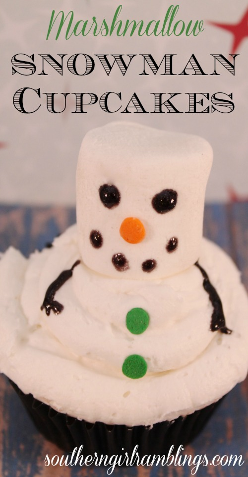 Marshmallow Snowman Cupcakes: 10 Fun Ways To Build A Snowman | Cheap Is The New Classy