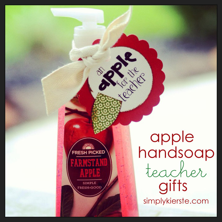 Apple Handsoap Gift: 10 Christmas Gift Ideas For Teachers | Cheap Is The New Classy