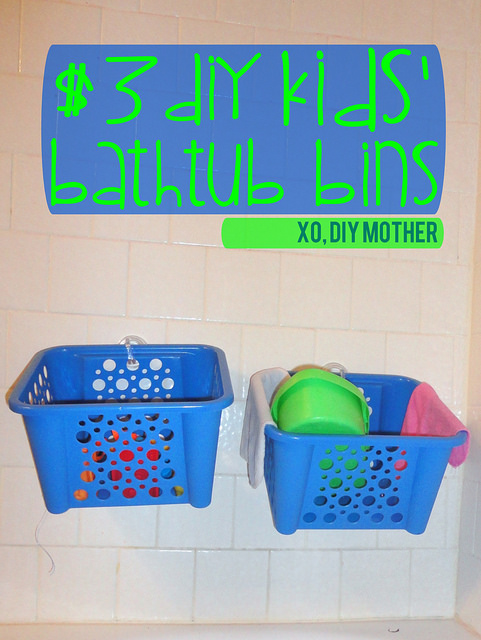 DIY Bathtub Bins: 10 Home Organization Ideas For A Clutter Free Life | Cheap Is The New Classy