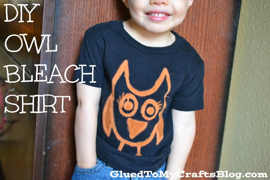 DIY Owl Shirt w/ Clorox Bleach Pen: Upcycled Clothing Ideas: 10 Ways to Give Old Clothes New Life | Cheap Is The New Classy