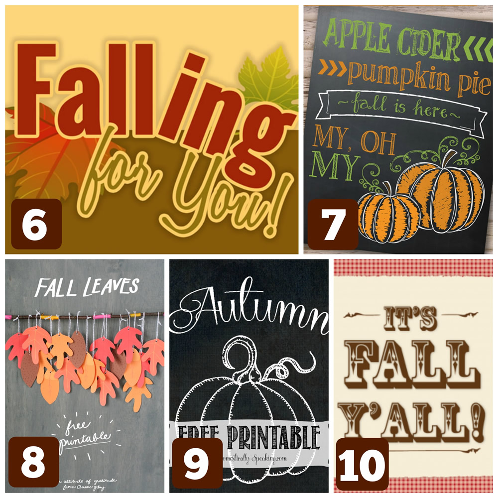 10 Cute & Free Fall Printables | Cheap Is The New Classy