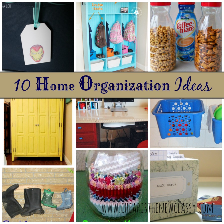 Diy Organization Part - 25: 10 Home Organization Ideas For A Clutter Free Life | Cheap Is The New Classy