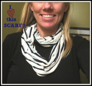 DIY Infinity Scarf From A Dress: Upcycled Clothing Ideas: 10 Ways to Give Old Clothes New Life | Cheap Is The New Classy