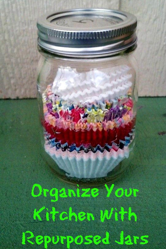 Repurposed Jars For The Kitchen: 10 Home Organization Ideas For A Clutter Free Life | Cheap Is The New Classy