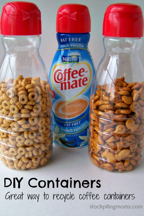 Recycled Coffee Creamer Containers: 10 Home Organization Ideas For A Clutter Free Life | Cheap Is The New Classy
