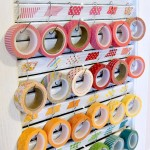 office - washi tape organization