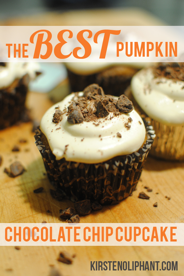 Pumpkin Chocolate Chip Cupcakes: 10 Tasty Pumpkin Recipes For Fall | Cheap Is The New Classy