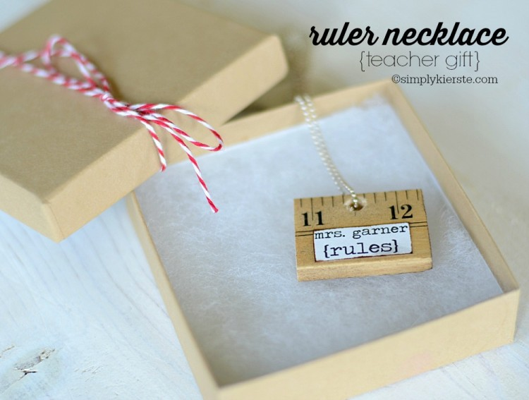 ruler necklace 10 christmas gift ideas for teachers cheap is the new classy
