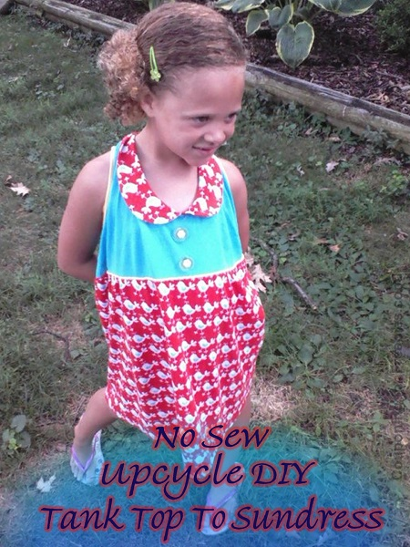 How To Turn A Tank Top Into A Girl's Sundress: Upcycled Clothing Ideas: 10 Ways to Give Old Clothes New Life | Cheap Is The New Classy