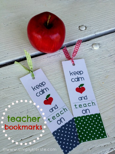 Keep Calm and Teach On Bookmarks: 10 Christmas Gift Ideas For Teachers | Cheap Is The New Classy