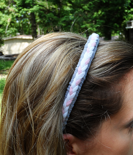 Braided Recycled Tshirt Headband: Upcycled Clothing Ideas: 10 Ways to Give Old Clothes New Life | Cheap Is The New Classy