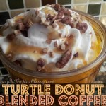 Have a coffee party with this Turtle Donut Blended Coffee Recipe #sponsored