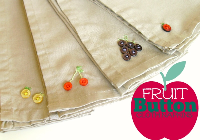 button-craft-button-fruit-cloth-napkins