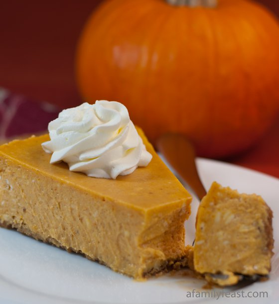 Pumpkin Cheesecake: 10 Yummy Thanksgiving Dessert Ideas | Cheap Is The New Classy