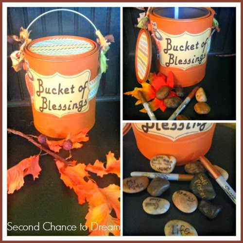 Bucket Of Blessings Tutorial: 10 Fall Decorating Ideas For Tables And Mantels | Cheap Is The New Classy