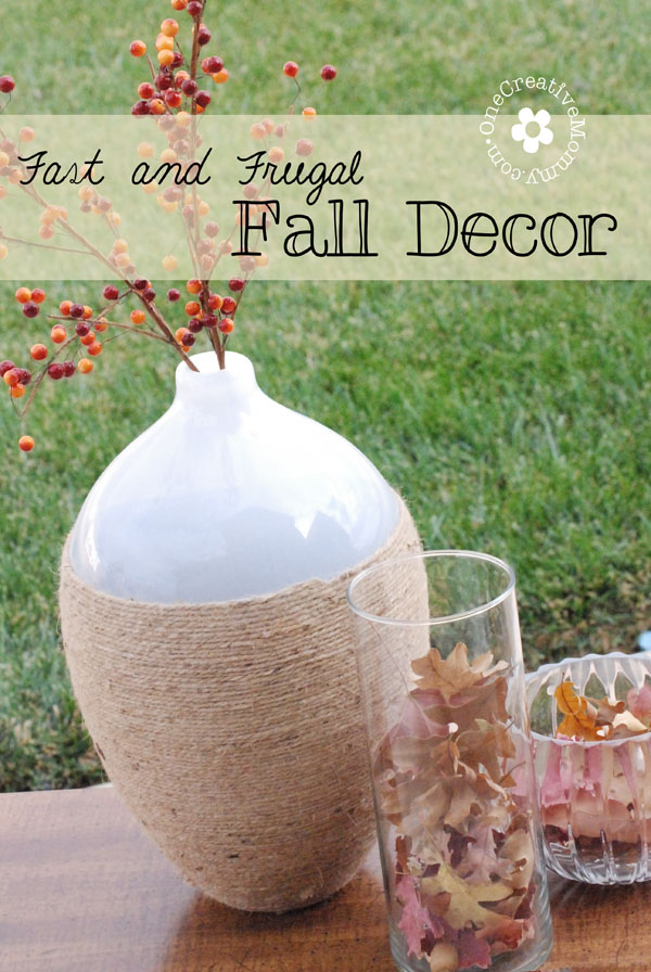Fast And Frugal Fall Decor: 10 Fall Decorating Ideas For Tables And Mantels | Cheap Is The New Classy