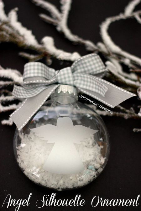 Angel Silhouette Ornament: 10 DIY Christmas Angel Crafts | Cheap Is The New Classy