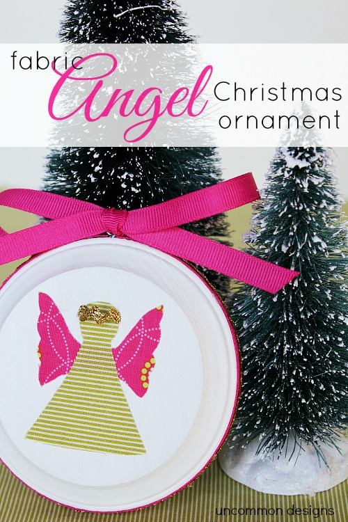 Fabric Angel Christmas Ornament: 10 DIY Christmas Angel Crafts | Cheap Is The New Classy