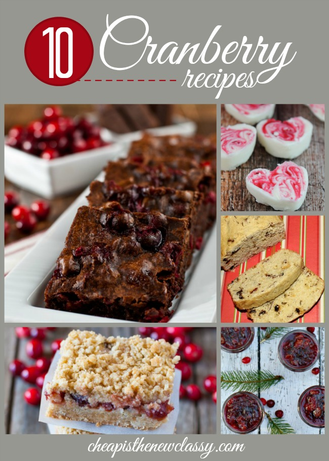Cranberry Recipes: 10 Tasty Recipes With Cranberries | Cheap Is The New Classy