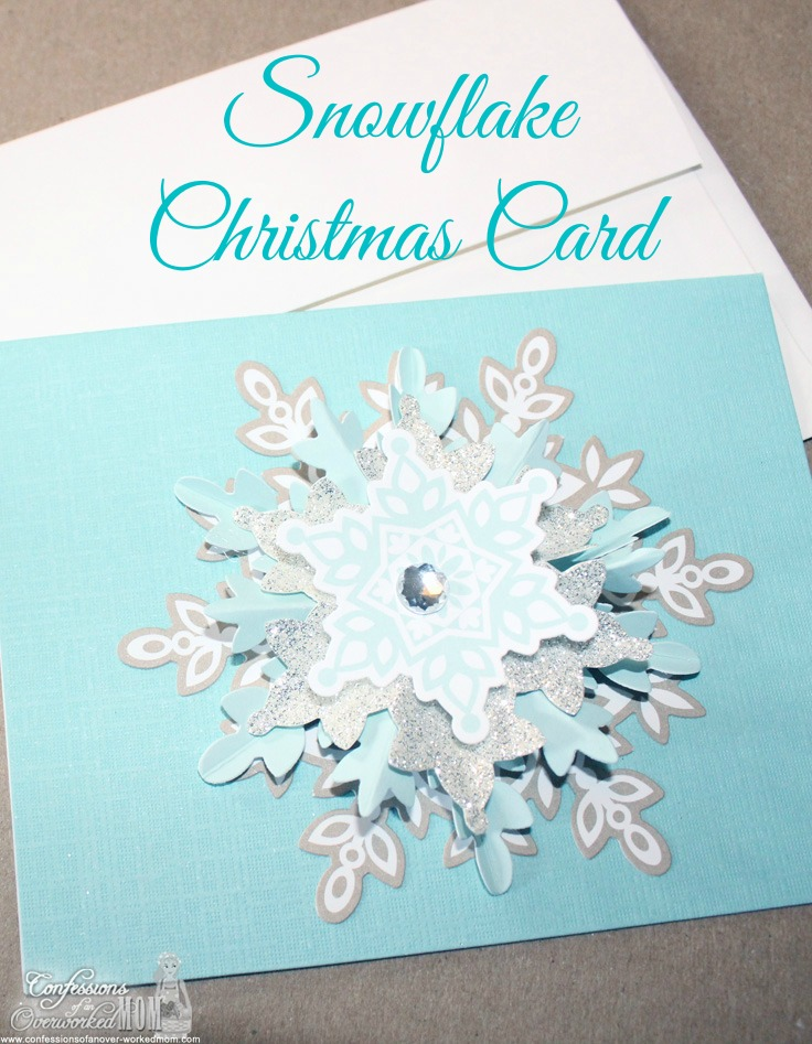Snowflake Christmas Card: 10 Snowflake Crafts and Ornaments | Cheap Is The New Classy