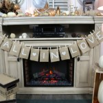 Fall Fireplace Mantel: 10 Fall Decorating Ideas For Tables And Mantels | Cheap Is The New Classy
