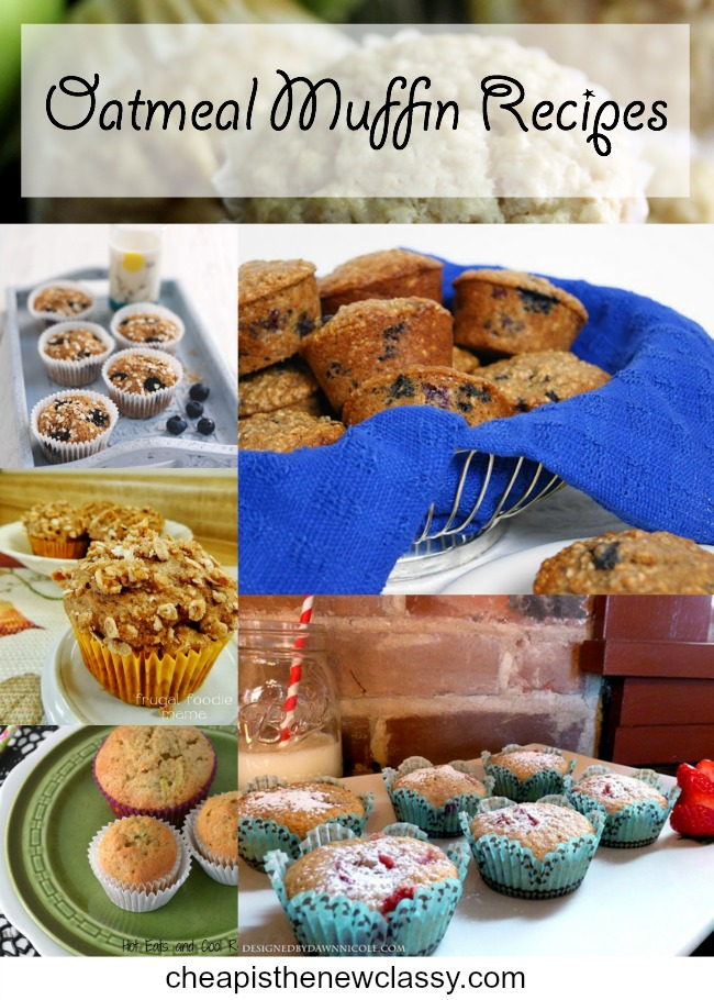 oatmeal muffin recipes